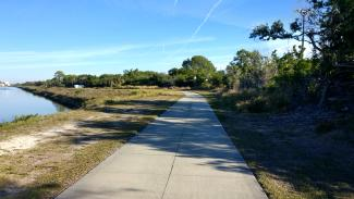 Bike trail near the beginning