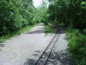 My path and the mini railroad